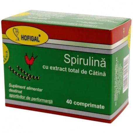 SPIRULINA CU EXTRACT TOTAL DE CATINA 40 CPR HOFIGAL