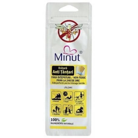Bratara Anti Tantari,100 ingrediente naturale, pentru intreaga familie,Minut