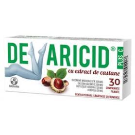 Devaricid cu extract de castane, 30 comprimate filmate, Biofarm