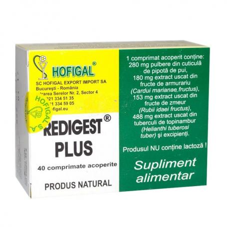 Redigest plus, 50 comprimate, Hofigal