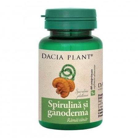 Spirulina cu Ganoderma 60 comprimate, Dacia Plant