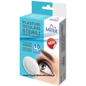 Plasturi pentru ochi, Ocluzor, 10 buc, Minut