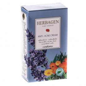 Crema Antiacnee cu galbenele, lavanda, arbore de ceai, Herbagen