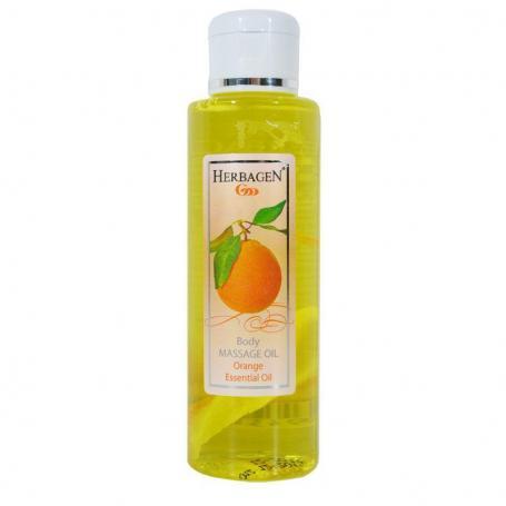 Ulei masaj cu ulei esential de portocale, 100ml, Herbagen