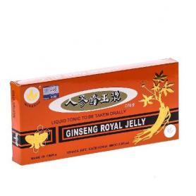 Ginseng, Royal Jelly (Laptisor de Matca) 10 fiole, Minerva