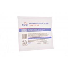 Pansament adeziv steril, 10x10 cm, Minut pore