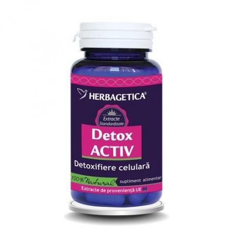 Detox Activ, 30 capsule, Herbagetica