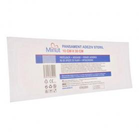 Pansament adeziv steril, 10 cm x 30 cm, Minut