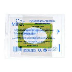 Punga urinara pedriatica, 100 ml, Minut