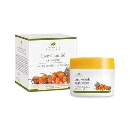 Crema antirid de noapte cu ulei de catina si masline, Cosmetics Plant