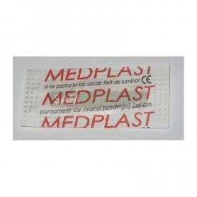 Medplast, pansament cu solutie de rivanol, 2 cm x 6 cm x 200 buc, Mebra