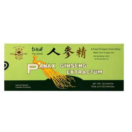 Ginseng fiole, Panax Ginseng Extractum, 10 file de baut,