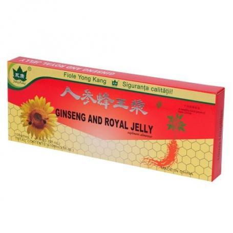 Ginseng, Royal Jelly, 10 fiole, Yong Kang