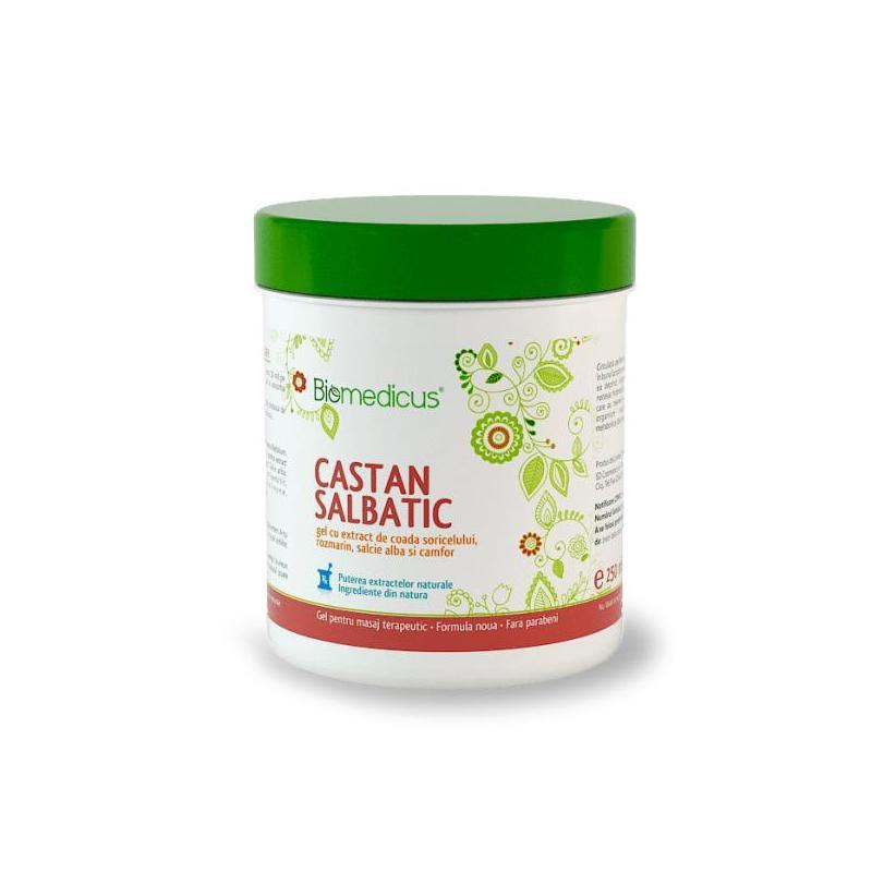 Gel Castan Salbatic si coada soricelului, 250 ml, Biomedicus