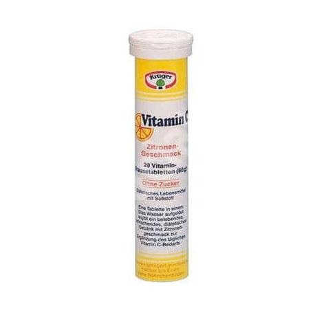 Vitamina C efervescenta,180 mg Kruger