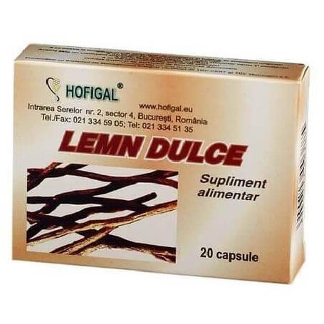 Lemn Dulce, 20 capsule, Hofigal