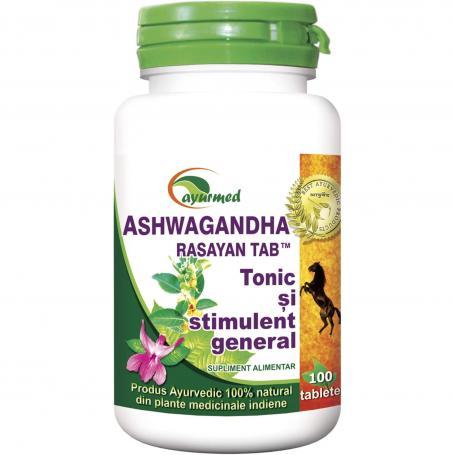 Ashwagandha Rasayan tab, 100 tablete, Ayurmed