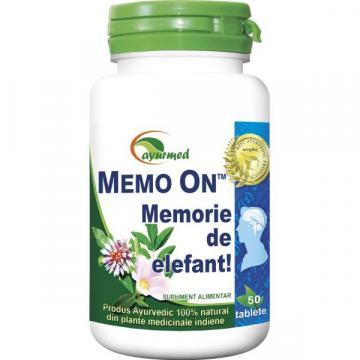 Memo On, 100 tablete, Ayurmed