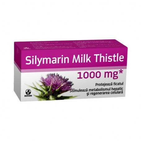 Silimarin Milk Thistle, 1000 mg, 30 cps, Biofarm