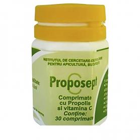 Proposept cu propolis si vitamina C, 30tb, Institutul Apicol