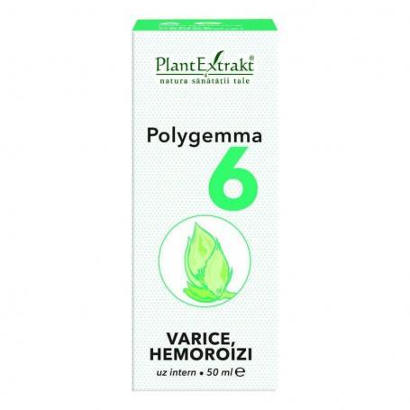 Polygemma 6 Varice si Hemoroizi, 50 ml, Plant Extrakt