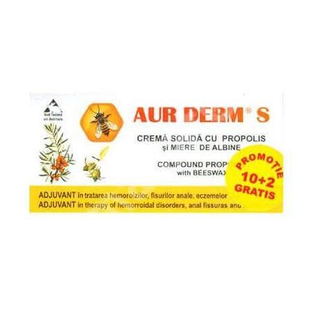 Supozitoare Aur Derm S, 12 bucati, Laur Med