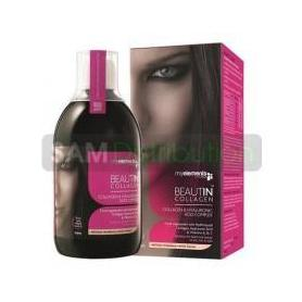 Beautin collagen, 500 ml mango si pepene galben, My Elements