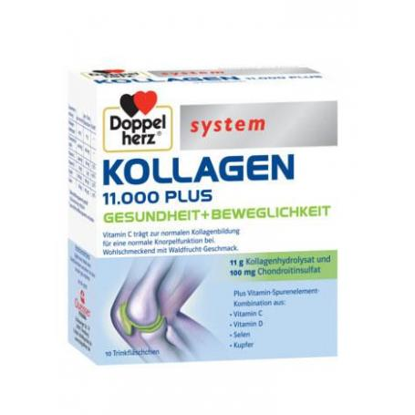 Doppelherz Kollagen 11000 Plus, 10 flacoane