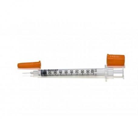 Seringi sterile 1 ml cu ac incastrat insulina