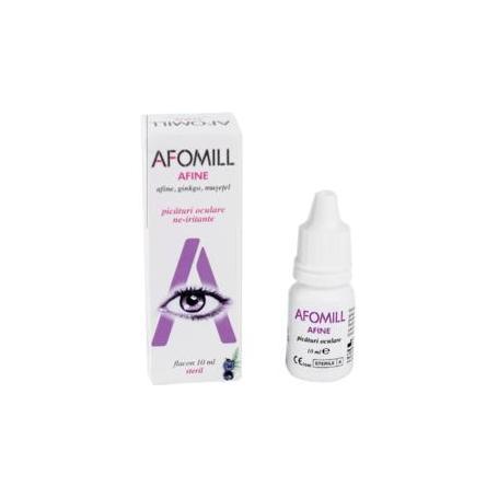 Afomill afine picaturi oftalmice, pentru ochi obositi si stresati, 10 ml