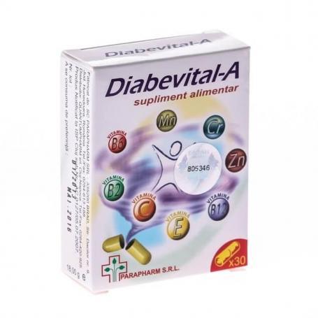 Diabevital A, 30 capsule, Parapharm