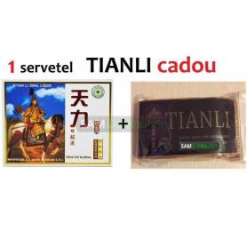 Tianli original 4 fiole  cadou 1 servetel igienic umed pentru potenta Tianli