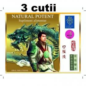 Natural Potent Tianli 4 fiole pachet 3 cutii