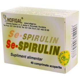 Se-Spirulina, 40 comprimate, Hofigal