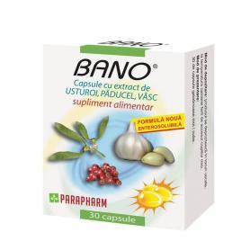 Capsule Bano cu extract de usturoi, paducel si vasc, 30 capsule (pret, prospect) Parapharm