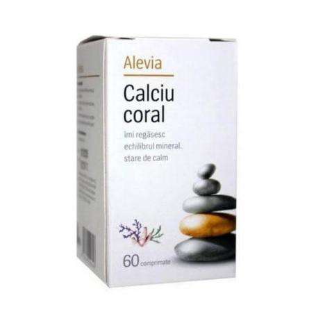 Calciu Coral, 60 comprimate, Alevia