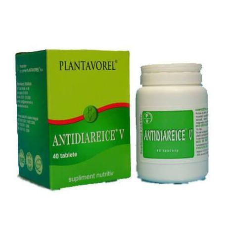 Antidiareice V, 40 comprimate, Plantavorel