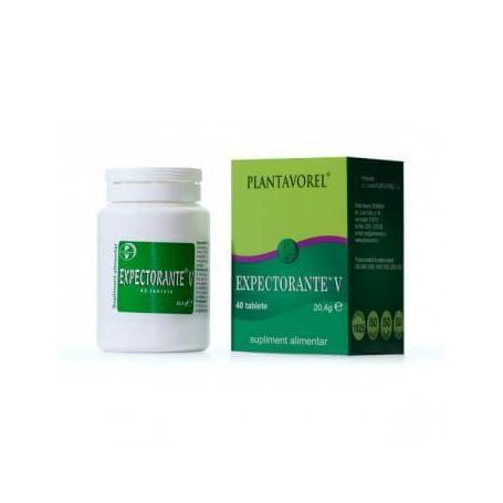 Expectorante V, 40 tablete, Plantavorel