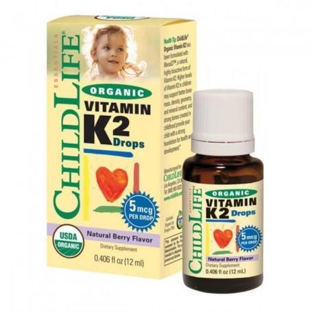 Vitamina K2, 12ml, Secom Childlife Essentials