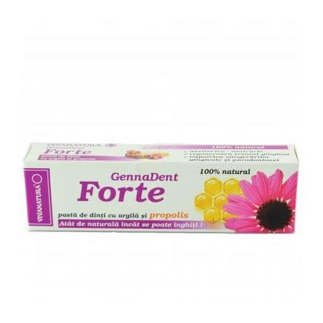 Pasta de dinti, Gennadent Forte, 80ml, Viva Natura