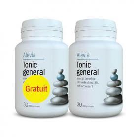 Pachet Tonic General (1+1 Gratis) 30 capsule, Alevia
