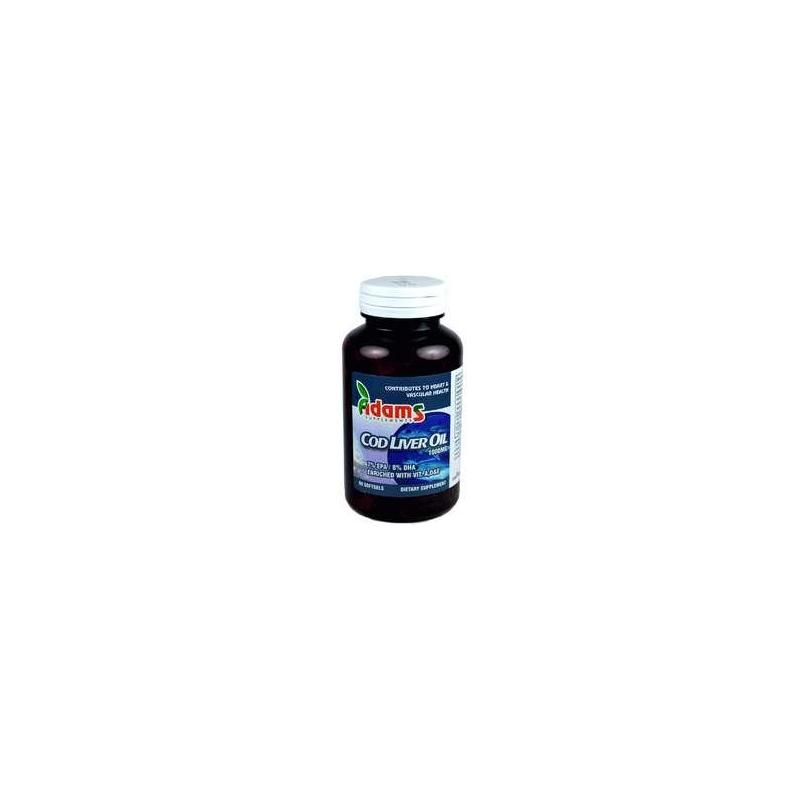 Cod Liver Oil (1000 mg) 90 capsule, Adams Vision