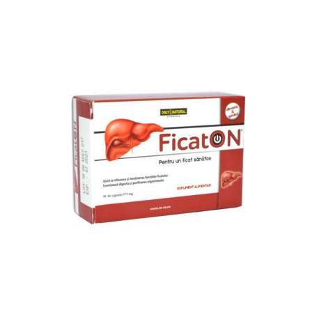 Ficaton, 30 capsule (armurariu, silimarina), Only Natural