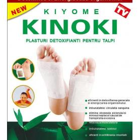 Plasturi detoxifianti detoxifiere Kinoki pentru talpi, 10 buc