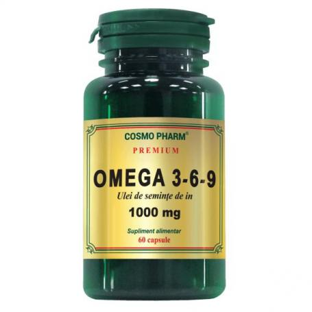 Omega 3-6-9 1000mg Ulei seminte de In Premium, 60 capsule (pret, prospect) Cosmopharm