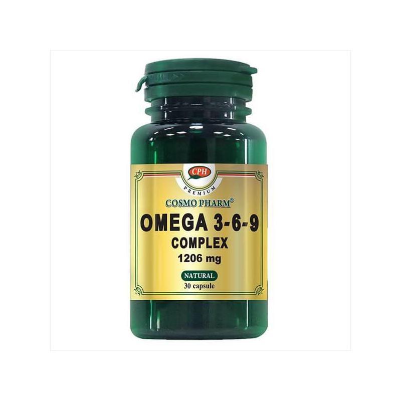Omega 3-6-9 Complex Premium 1206 mg, 60 capsule (pret, prospect) Cosmopharm