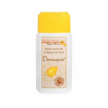 Lotiune pentru par cu laptisor de matca si polen Dermapin, 100 ml, Complex Apicol Veceslav
