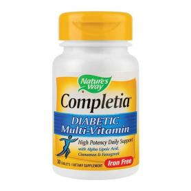 Completia Diabetic Multivitamin, 30 tablete, Secom (Nature's Way)