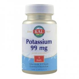 Potasiu 99 mg, 100 capsule, Kal