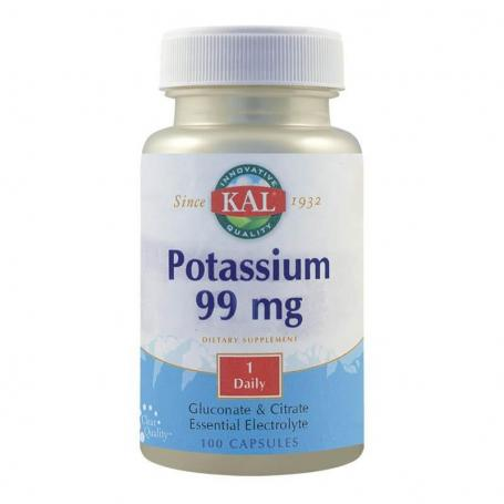 Potasiu 99 mg, 100 capsule, Kal